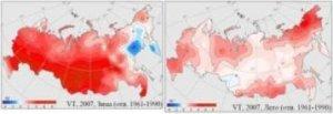 Климатические изменения в России